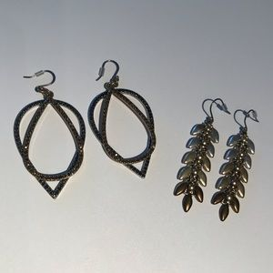 2 pairs  Lucky Brand earrings
